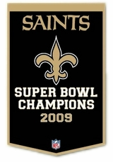 "New Orleans Saints 24"" x 36"" Wool Dynasty Banner"