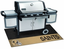 New Orleans Saints 26x42 Grill Mat