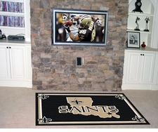 New Orleans Saints 4'x6' Floor Rug