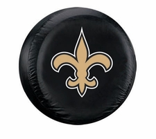 New Orleans Saints Black Fleur-de-lis Large Spare Tire Cover