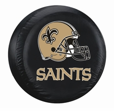 New Orleans Saints Black Large Spare Tire Cover