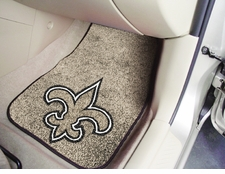 New Orleans Saints Car Mats 2 Piece Front Set