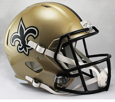 New Orleans Saints Full-Size Deluxe Replica Speed Helmet