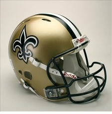 New Orleans Saints Full Size Riddell Revolution NFL Helmet