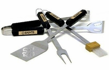 New Orleans Saints Grill BBQ Utensil Set