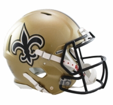 New Orleans Saints Revolution Speed Riddell Authentic Helmet