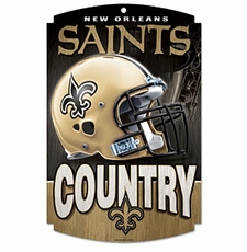 New Orleans Saints Wood Sign