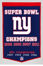 New York Giants 24 x 36 Wool Dynasty Banner