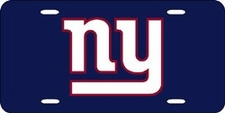 New York Giants Laser Cut Blue License Plate