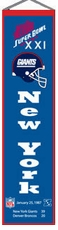 New York Giants Super Bowl 21 Wool 8x32 Heritage Banner