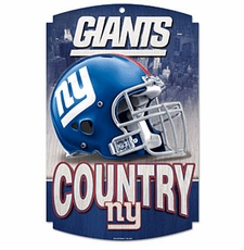 New York Giants Wood Sign