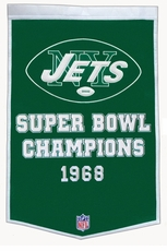 New York Jets 24 x 36 Wool Dynasty Banner