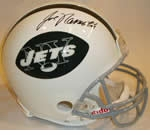 New York Jets Autographed Football Gear
