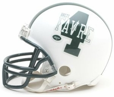 New York Jets Brett Favre Riddell Replica Player Mini Helmet