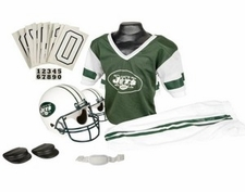 New York Jets Deluxe Youth / Kids Football Uniform Set