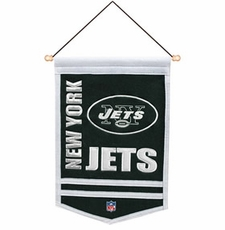 New York Jets Wool 12 x 18 Mini Banner