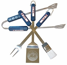 New York Mets Grill BBQ Utensil Set