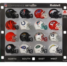 NFL AFC Conference Helmet Pocket Pro Set - 2011-12