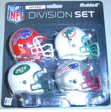 NFL AFC East Division Helmet Pocket Pro Set