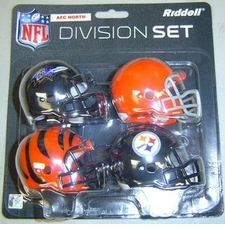 NFL AFC North Division Helmet Pocket Pro Set
