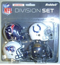 NFL AFC South Division Helmet Pocket Pro Set