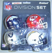 NFL AFC West Division Helmet Pocket Pro Set