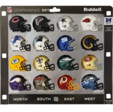 NFL NFC Conference Helmet Pocket Pro Set