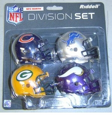 NFL NFC North Division Helmet Pocket Pro Set