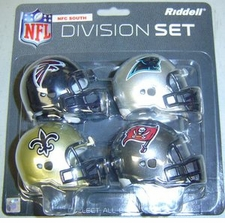 NFL NFC South Division Helmet Pocket Pro Set