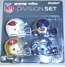 NFL NFC West Division Helmet Pocket Pro Set