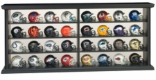 NFL Pocket Pro 32 Piece Team Helmet Set with Wood Display Case