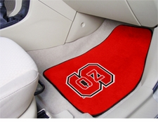 North Carolina State Wolfpack 2-Piece Carpeted Car Mats Front Set