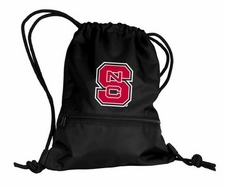 North Carolina State Wolfpack Black String Pack / Backpack