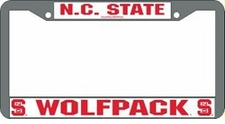 North Carolina State Wolfpack Chrome License Plate Frame