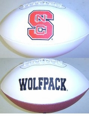 North Carolina State Wolfpack Full Size Signature Embroidered Football