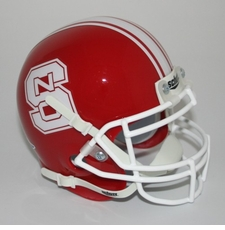 North Carolina State Wolfpack Red Schutt Authentic Mini Helmet