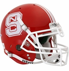 North Carolina State Wolfpack Red Schutt Full Size Replica Helmet