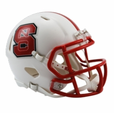 North Carolina State Wolfpack White Riddell Speed Mini Helmet