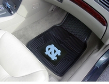 North Carolina Tar Heels 2-Piece Heavy Duty Vinyl Car Mat Set