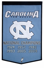 North Carolina Tar Heels 24 x 36 Basketball Dynasty Wool Banner