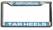 North Carolina Tar Heels Laser Cut Chrome License Plate Frame
