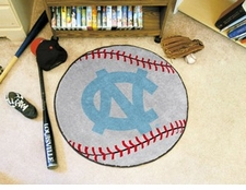 "North Carolina Tar Heels ""NC"" 27"" Baseball Floor Mat"