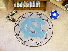 "North Carolina Tar Heels ""NC"" 27"" Soccer Ball Floor Mat"