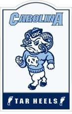 North Carolina Tar Heels Nostalgic Metal Sign