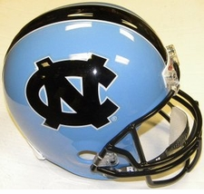 North Carolina Tar Heels w/ Black Stripe Riddell Deluxe Replica Helmet