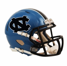 North Carolina Tar Heels w/ Black Stripe Riddell Speed Mini Helmet