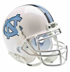 North Carolina Tar Heels White Schutt Authentic Mini Helmet