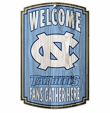 North Carolina Tar Heels Wood Sign