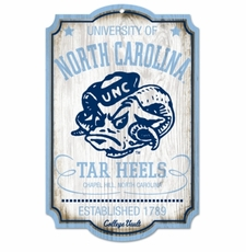 North Carolina Tar Heels Wood Sign - College Vault