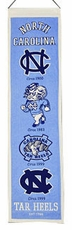 North Carolina Tar Heels Wool 8x32 Heritage Banner